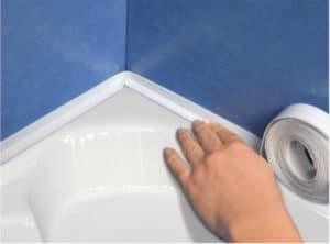 Силиконовый герметик для ванны замазка швов