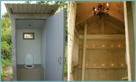 Чертеж дачного туалета с размерами