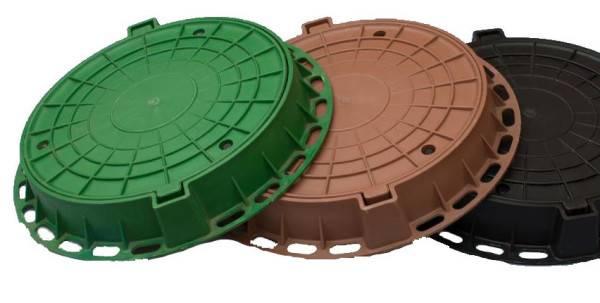 Пластиковая крышка на бетонное кольцо
