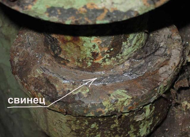 Ремонт чугунной канализационной трубы