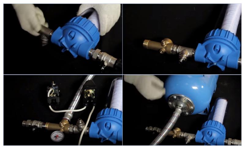 Схема подключения скважинного насоса к гидроаккумулятору