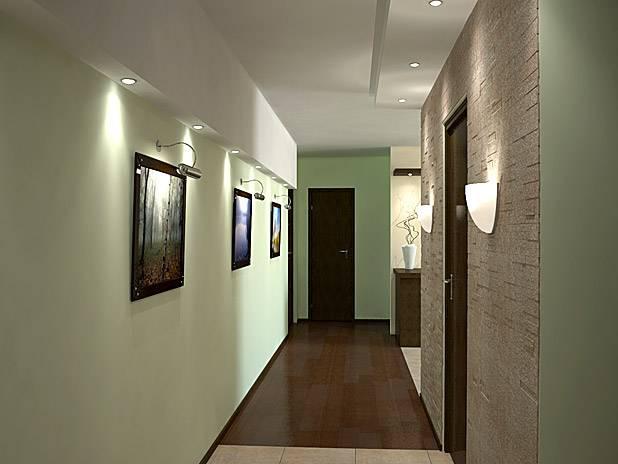 Освещение в узком коридоре