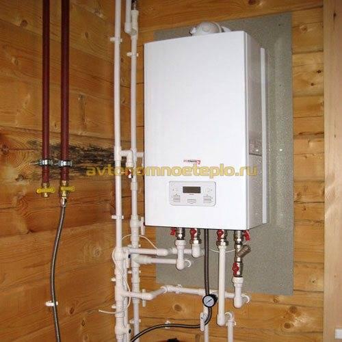 Высота установки газового котла от пола