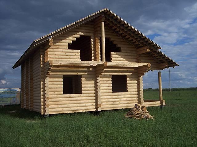 Утепление дома из бревна снаружи