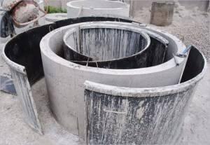 Квадратные бетонные кольца большого размера