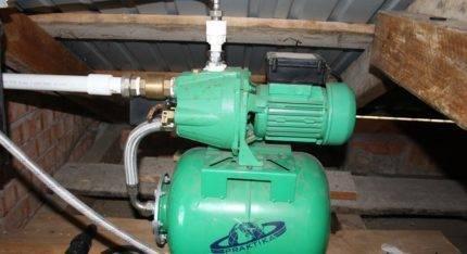 Насос для создания давления в системе водоснабжения