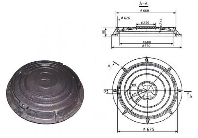 Крышка колодца полимерная