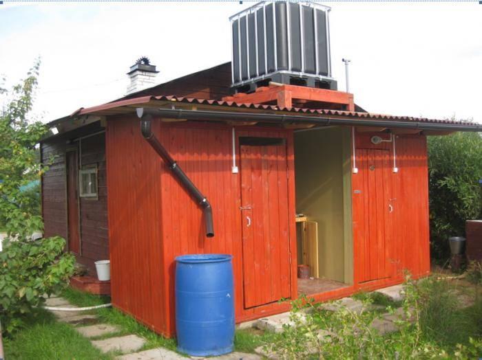 Построить душ на даче