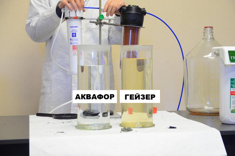 Тест фильтров для воды под мойку
