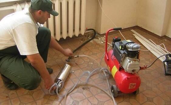 Гидравлический пресс для опрессовки системы отопления