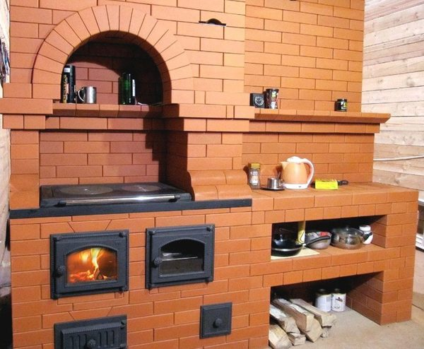 Печи для отопления дома на дровах