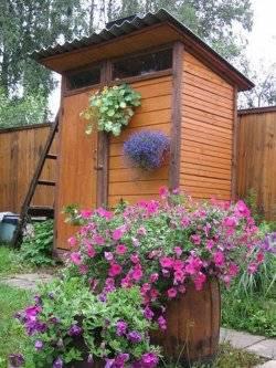 Дачный душ из дерева