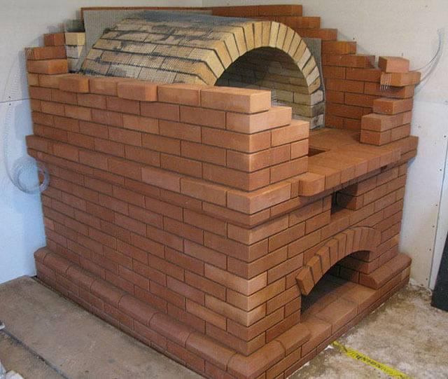 Печка для дома из кирпича своими руками