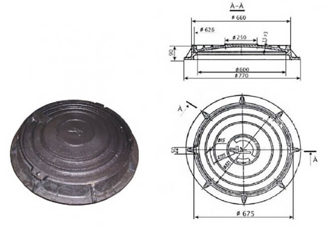 Люк канализационный полимерный размеры