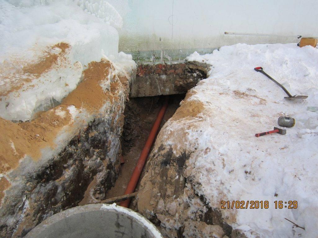 Минимальная глубина заложения канализации