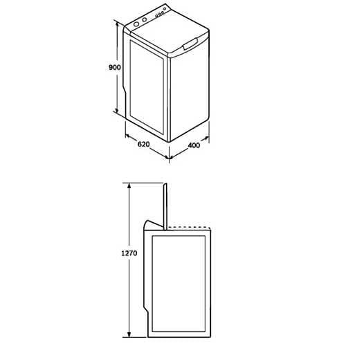 Стиральная машина с вертикальной загрузкой размеры габариты