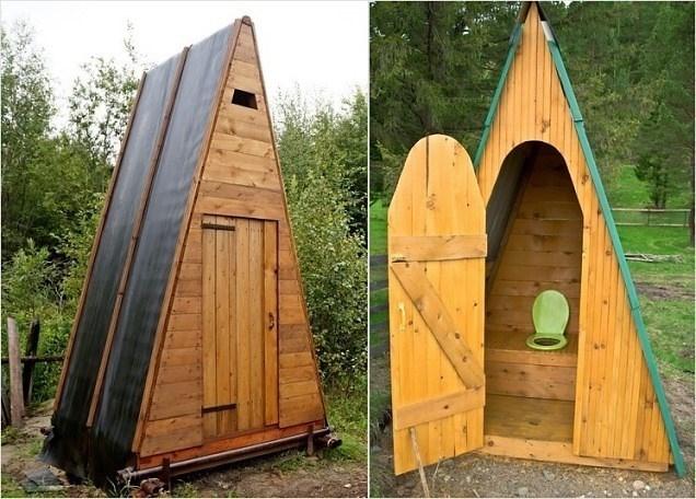 Садовый туалет своими руками