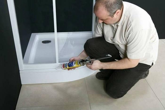Как установить поддон в ванной комнате
