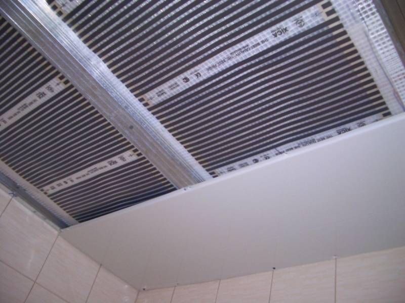 Теплый потолок инфракрасный