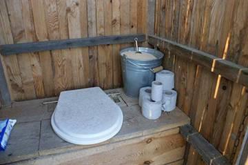 Унитаз дачный для уличного туалета пластиковый