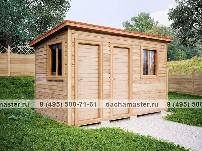 Душевая кабина из дерева для дачи