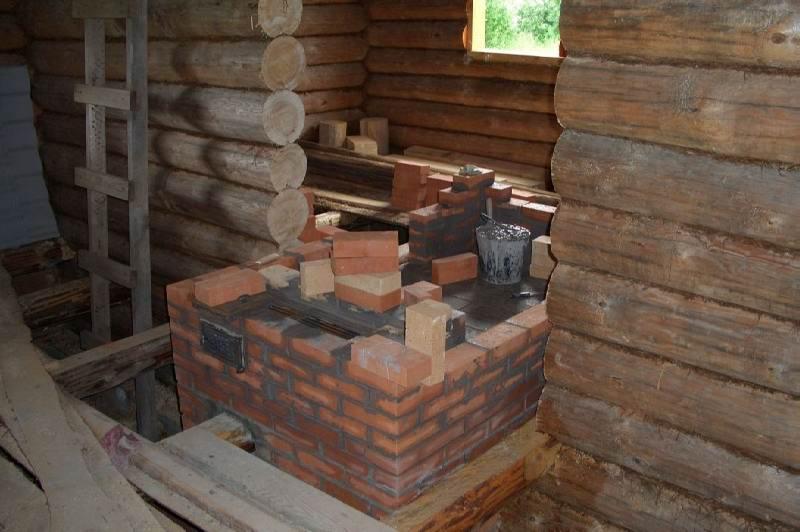 Установка печи камина в деревянном доме