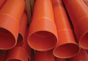 Труба канализационная рыжая