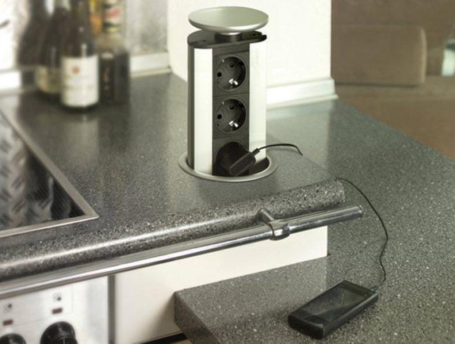 Высота установки розеток на кухне