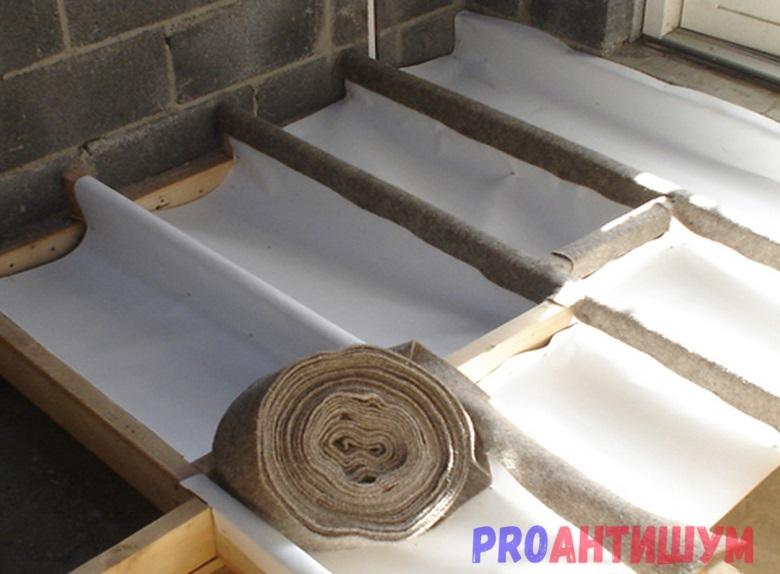 Звукоизоляция деревянного потолка