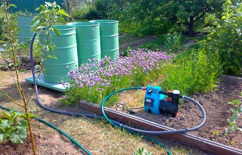 Применение насоса для полива огорода